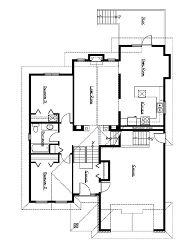 Northern home design bi level house plan the saxon for Northern house plans